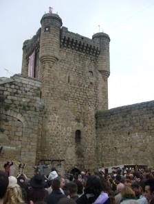 Castillo de Oropesa desde el patio de armas