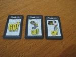 Los tres resultados posibles en el montón de cartas K