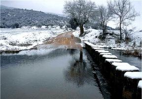 Las pasaderas nevadas (Río Bullaque, Luciana)