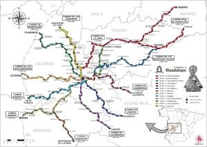 Mapa de caminos del peregrino.