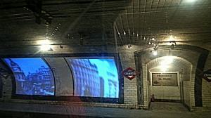 Estación de Chamberí y vías de la actual línea 1 del metro.