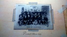 Fotografía antigua trabajadores del metro